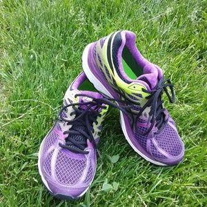 ASICS GEL CUMULUS 17 Purple/Green running shoe